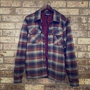 Patagonia Quilted Flannel Plaid Jacket Button Down